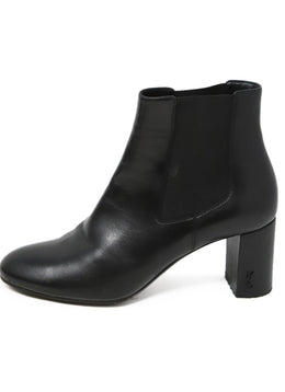 Saint Laurent Black Leather Chelsea Boots 2