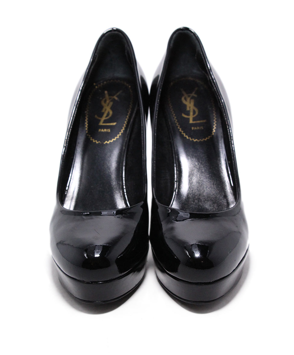 YSL Black Patent Leather Heels 4