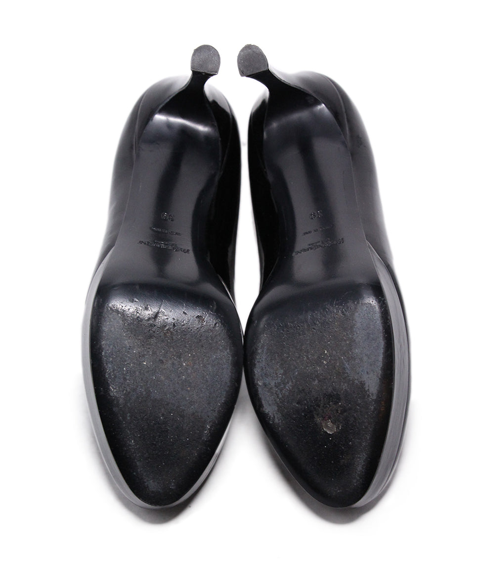 YSL Black Patent Leather Heels 5