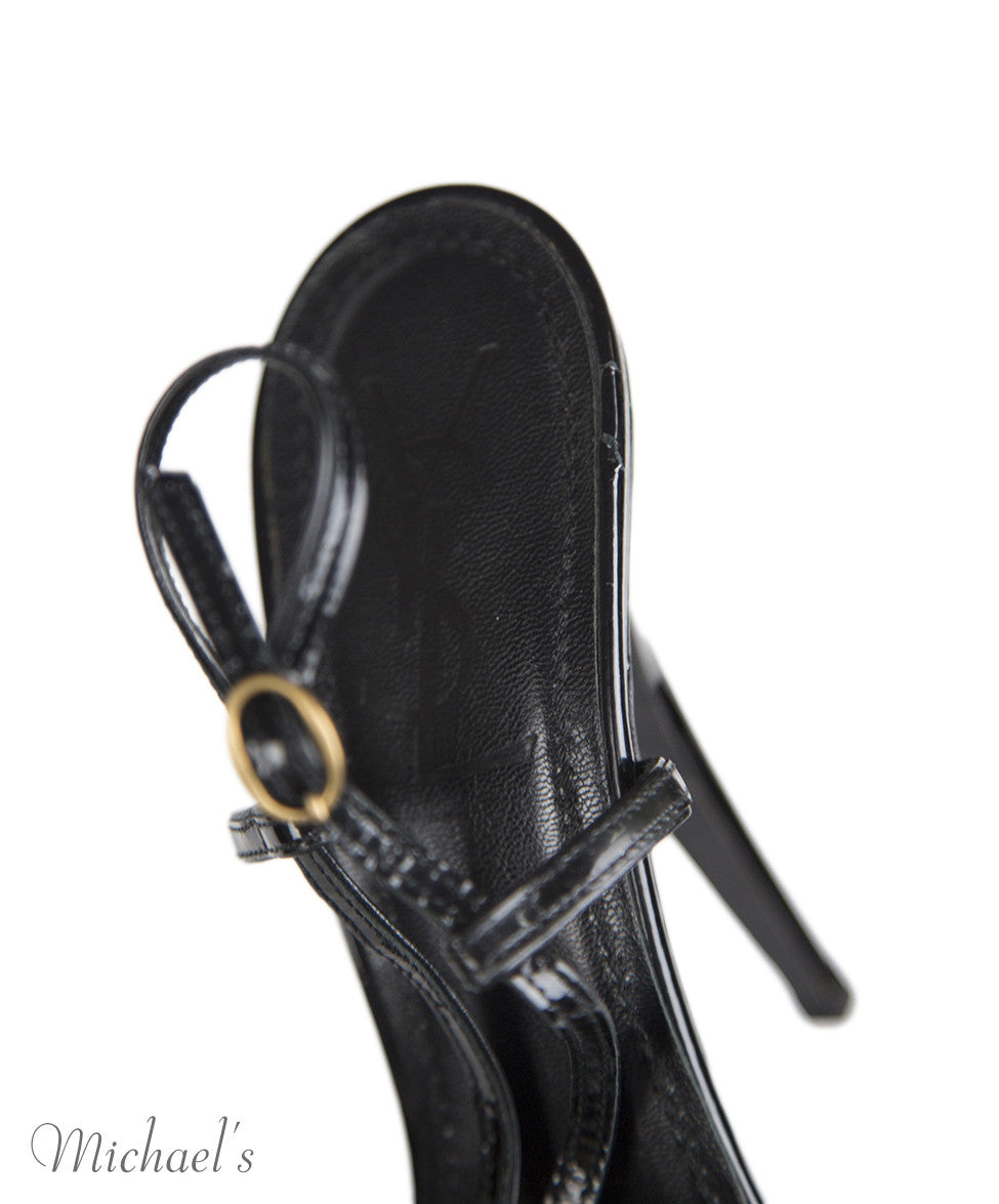 Ysl 7 Black Patent Leather Strappy notlisted SHOES - Michael's Consignment NYC  - 9
