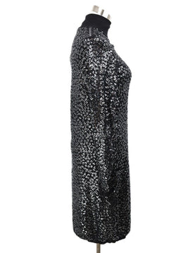 YSL Black Wool Sequins Dress 2