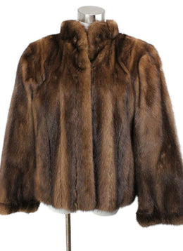Coat Short YSL Brown Mink Vintage Outerwear 1
