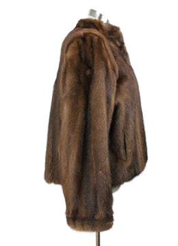 Coat Short YSL Brown Mink Vintage Outerwear 2