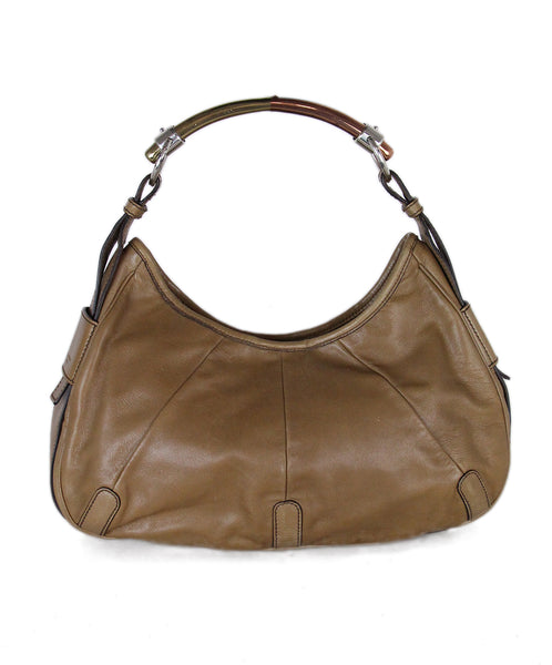 YSL Brown Tan Leather Shoulder Bag 1
