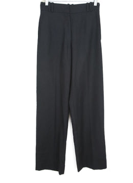 YSL Charcoal Wool Cashmere Pants 1