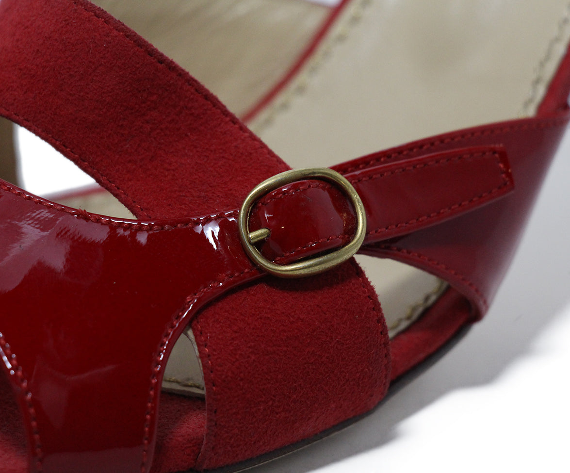 YSL Red Patent Leather Heels 8