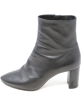 YSL Black Leather Booties 2