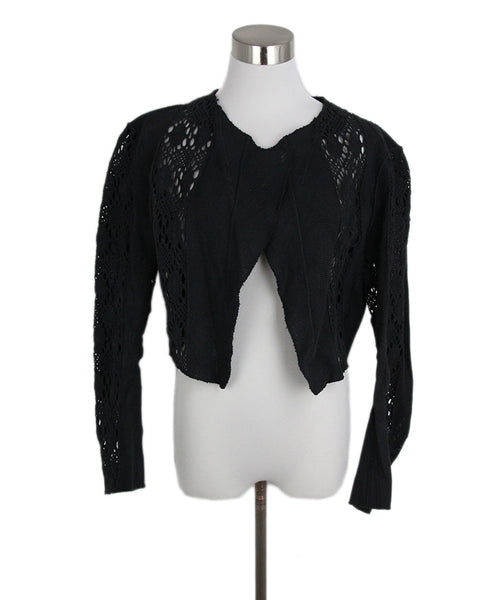 YSL Black Cotton Knit Jacket 1