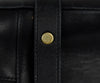 YSL Black Leather Gold Trim Satchel | YSL