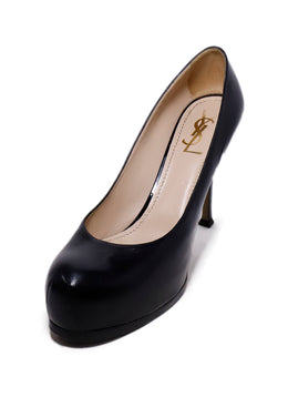 YSL Black Leather Heels 1