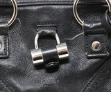 YSL Black Leather Satchel Shoulder Bag 9