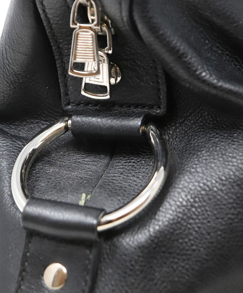 YSL Black Leather Satchel Shoulder Bag 11