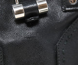 YSL Black Leather Satchel Shoulder Bag 13