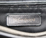 YSL Black Leather Satchel Shoulder Bag 7