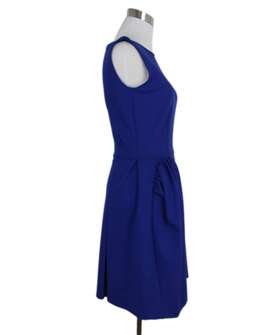 YSL blue wool dress 1