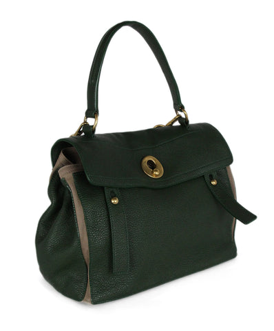 YSL Green Leather Handbag 1