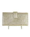 YSL Metallic Gold Pebbled Leather Wallet | YSL