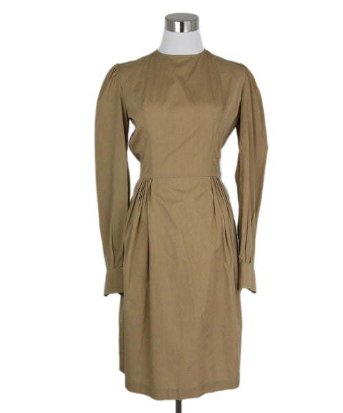 YSL Neutral Tan Cotton Dress 1