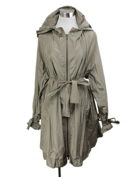 YSL Taupe Polyester Raincoat 1