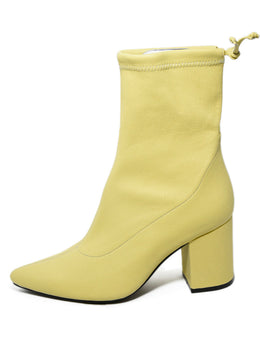 Anine Bing Yellow Leather Booties 2