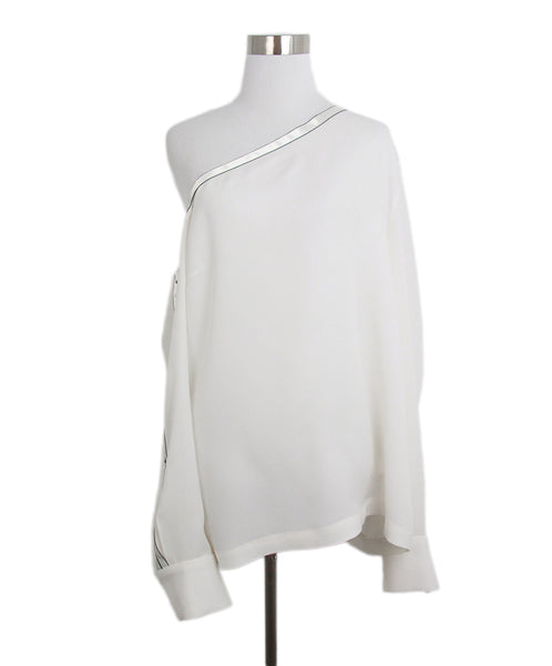 Yigal Azrouel ivory silk blouse 1
