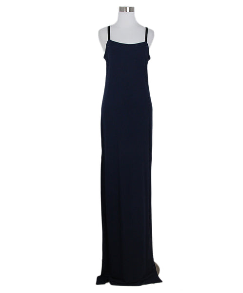 Yigal Azrouel navy long dress 1