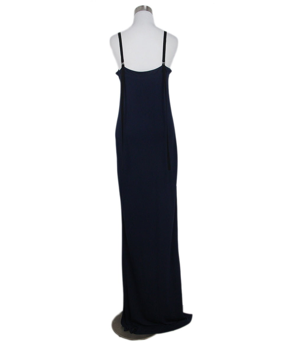 Yigal Azrouel navy long dress 3