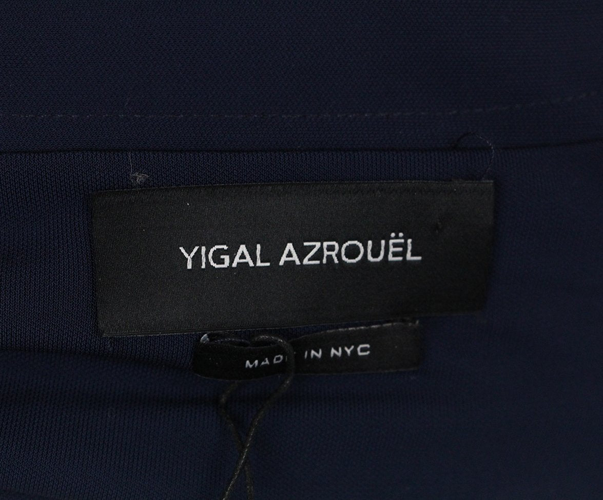 Yigal Azrouel navy long dress 4