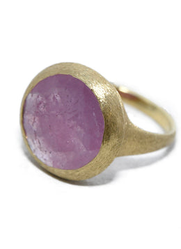 Yvel Pink Quartz 18 K Gold Ring 3