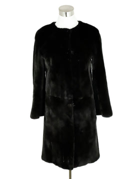 Yves Salomon Black Shearling Brown Mink Coat 1