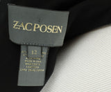 Zac Posen Black Polyester Longsleeve Dress 4