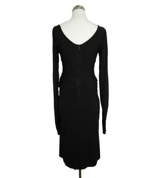 Zac Posen Black Polyester Longsleeve Dress 3