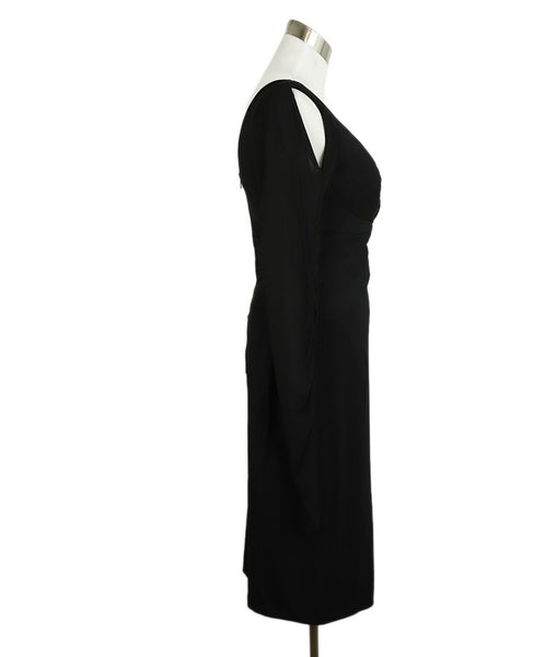 Zac Posen Black Polyester Longsleeve Dress 2
