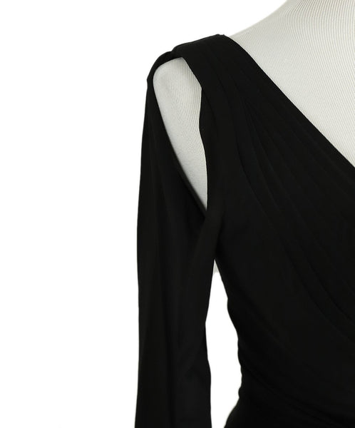 Zac Posen Black Polyester Longsleeve Dress 6
