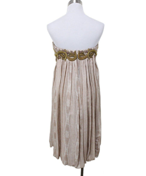 Zac Posen Nude Silk Strapless Dress 2