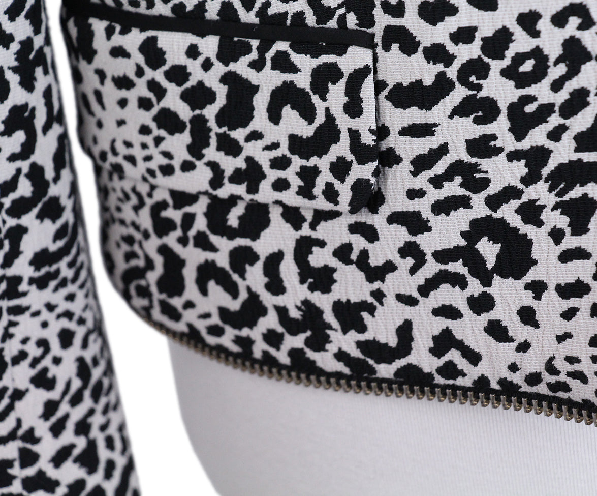 Zadig & Voltaire Black White Animal Print Jacket 6