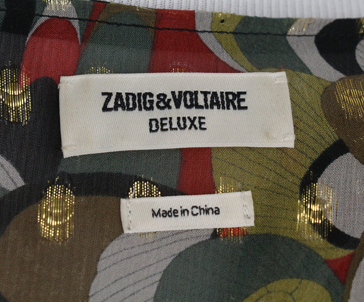 Zadig & Voltaire yellow red black blouse 4