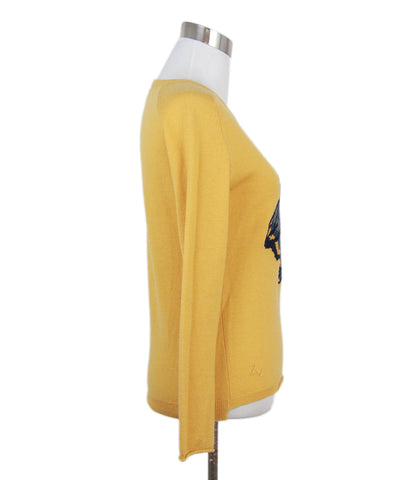 Zadig & Voltaire Yellow Wool Wolf Detail Sweater 1