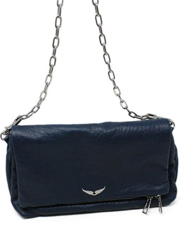 Zadig and Voltaire Navy Leather Crossbody 1