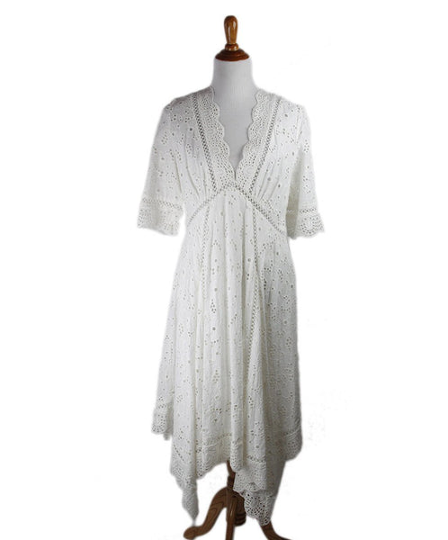 Zimmerman White Cotton Eyelet Dress Sz 8