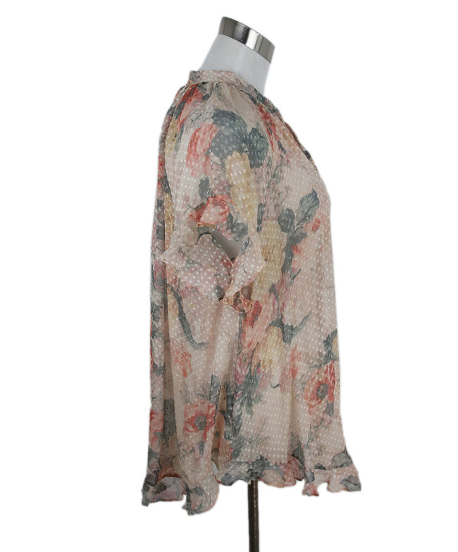 Zimmerman Peach Grey Floral Viscose Top 2
