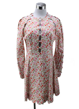 Zimmerman Red White Pink Floral Cotton Dress