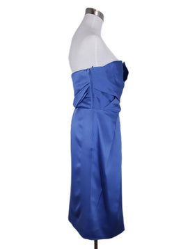 Alberta Ferretti Blue Royal Silk Strapless Dress 2