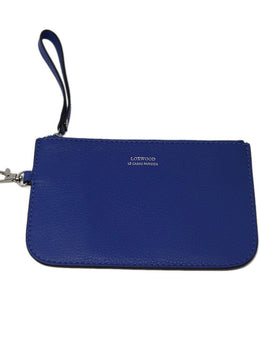 Loxwood Blue Leather Clutch
