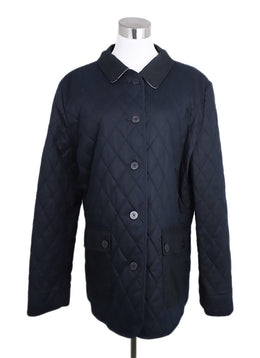Burberry Black Cotton Quilted Coat 1