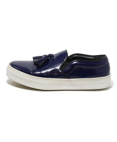 celine blue leather sneakers 1