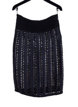 Chanel Black Ribbon Knit Skirt 1