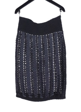 Chanel Black Ribbon Knit Skirt 2
