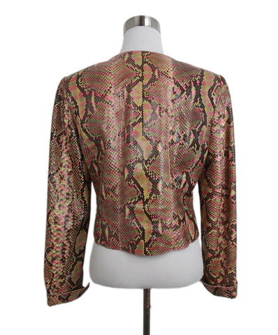 chanel brown salmon python jacket 1
