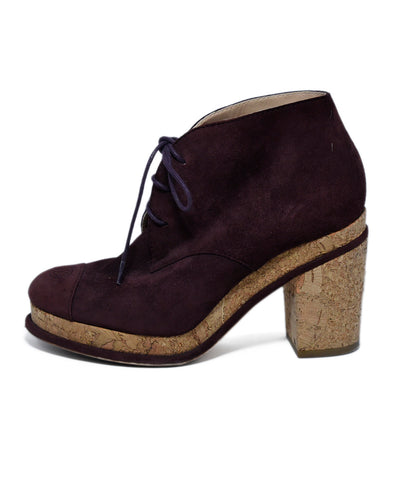 Chanel Burgundy Suede Booties 1